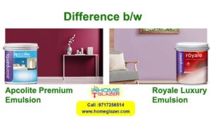 Difference b/w Apcolite Premium Emulsion and Royale Luxury Emulsion