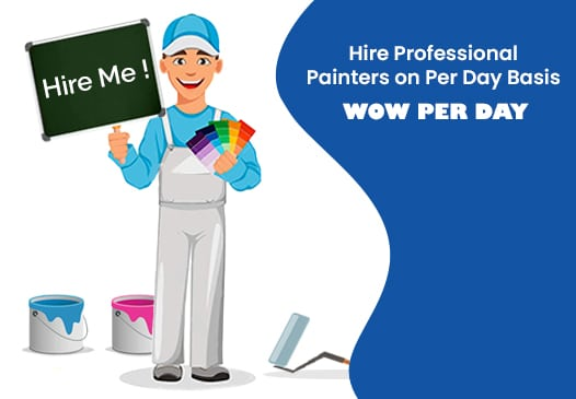 WOW per day painting services in Delhi by Home Glazer