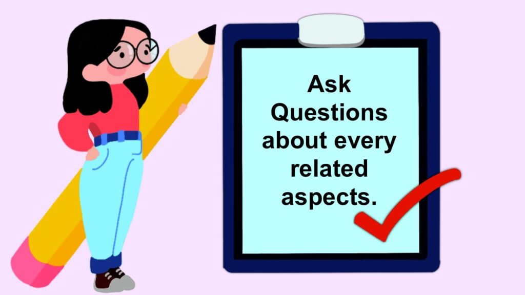 Ask Questions about every related aspect