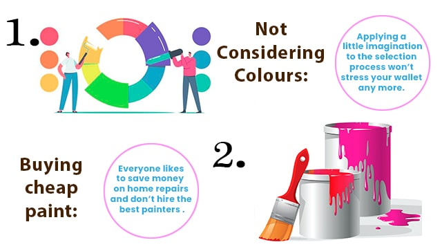 9 common mistakes people do while painting their home