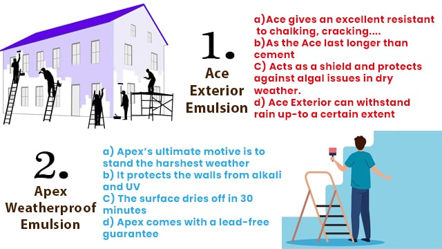 Difference between Asian Paint's Ace Paint and Asian Paint's Apex Paint