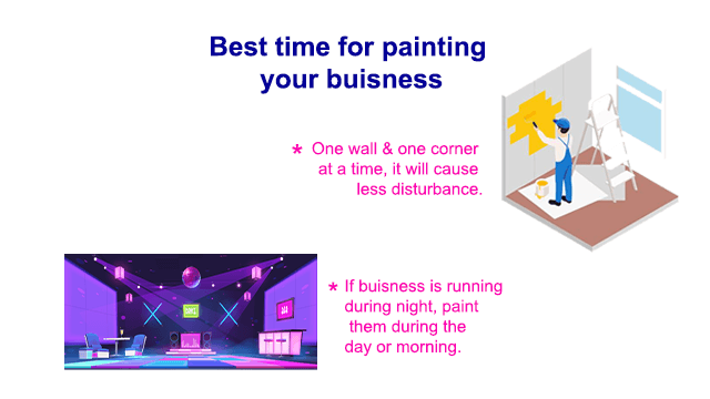 best time to painting a running business