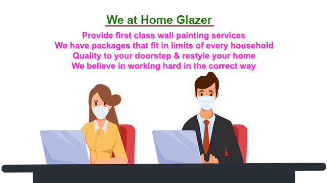At Homeglazer, we provide first class wall painting services which transform bare houses into beautiful homes.